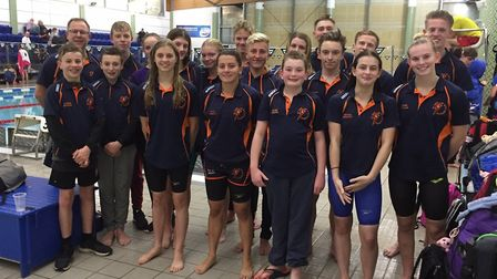 The St Ives squad at the second round of the Arena National Swimming League. Picture: SUBMITTED