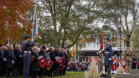 Remembrance Sunday services in Harpenden. Picture: Steve Collins
