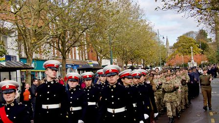 The Remembrance Sunday parade in St Albans. Picture: John Andrews