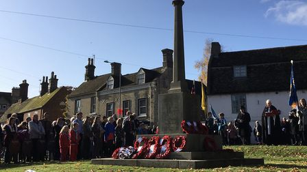 The Remembrance Sunday service in Godmanchester. Picture: ARCHANT