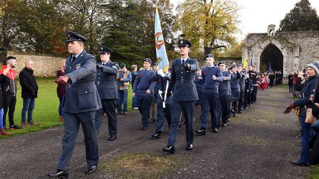 Remembrance Sunday services in Ramsey. Picture: ARCHANT