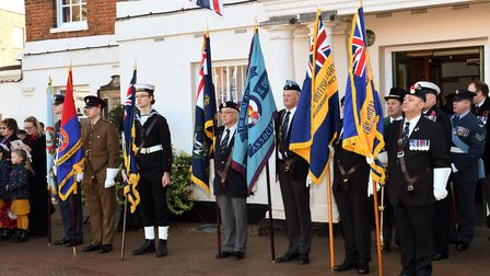 The Remembrance Sunday service in Huntingdon. Picture: ARCHANT