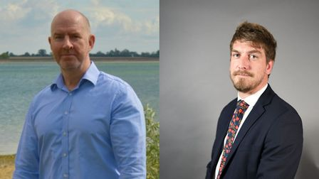 L-R : David Blake and Liam Round will not be standing for the Brexit Party.