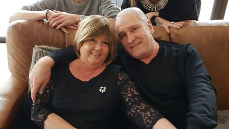Mandy Basey was able to spend Christmas at home with her husband Kevin, daughter Laura and son James