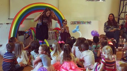 Over the Rainbow Parties is an eco-friendly children's party company launched in Royston. Picture: E