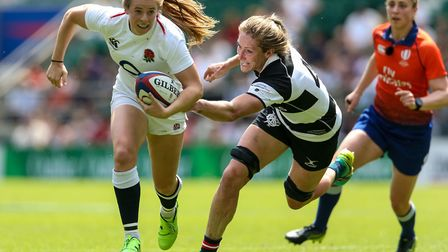Former Welwyn junior Zoe Harrison started for England in their win against France. Picture: PAUL HAR