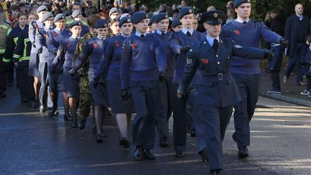 Royston's 2019 Remembrance Sunday parade and service. Picture: David Hatton