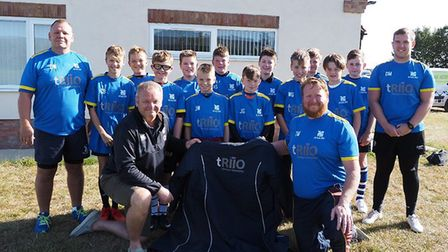 St Ives Under 12s celebrate their sponsorship from Triio Strategic Partnership. Picture: SUBMITTED