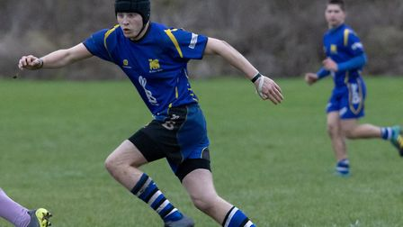 Sam Tuckwood scored one of the tries as St Ives 2nds saw off Haverhill & District. Picture: PAUL COX