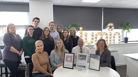 The St Albans-based Lumin Wealth team celebrating their awards. Picture: Lumin Wealth