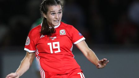 Megan Wynne in action for Wales during the first match against Northern Ireland in September. Pictur