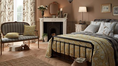 Experimental: a blend of patterns make this ochre suite, part of ILIV''s Botanist Collection, stand