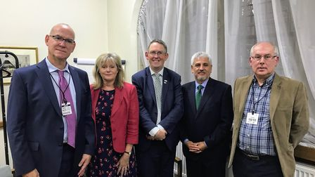 St Albans MP Anne Main met with members of St Albans Quieter Skies and aviation minister Paul Maynar