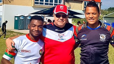 Godson Ssado, Len McMain and Peter Strain of St Albans Centurions at the London 9s.