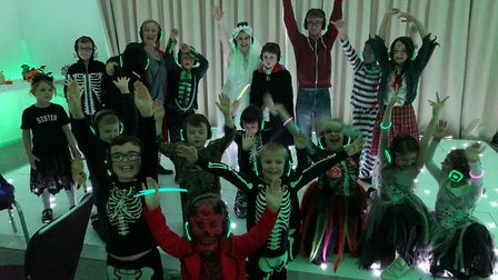 Children with autism, ADHD and related conditions enjoyed the Space Halloween silent disco in Redbou