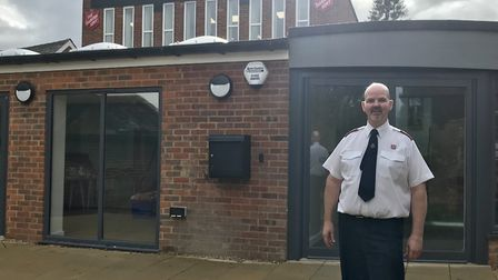 Captain Kenneth Guest celebrating the opening of Harpenden Salvation Army's new building. Picture: S