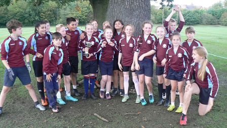 Somersham Primary School were successful at the tag rugby event. Picture: SUBMITTED