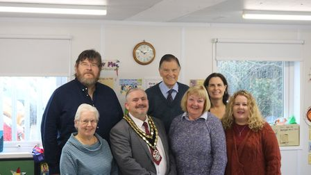 Town mayor Robert Inwood with members of Royston's Black Squirrel Credit Union. Picture: Jonathan S