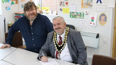 Royston town mayor Robert Inwood has joined the Black Squirrel Credit Union. Picture: Jonathan Scott