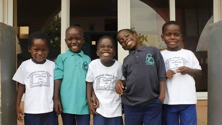 Crosshall Infant School donated uniforms to a school in Ghana, west Africa.