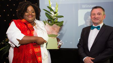 Coni Anang, home manager at Vesta Lodge care home in St Albans, won the 'service improvement' award
