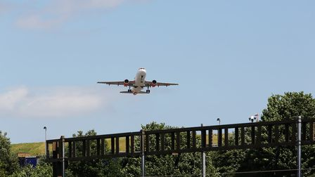 A group met to discuss the impact of Luton Airport's expansion on carbon emissions. Picture: DANNY L