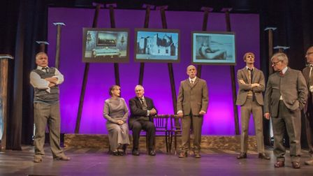 The Company of Ten preserts The Pitmen Painters at the Abbey Theatre in St Albans. Picture: Abbey Th