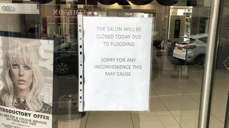A flood in two major city centre businesses is causing chaos today. Picture: Laura Bill