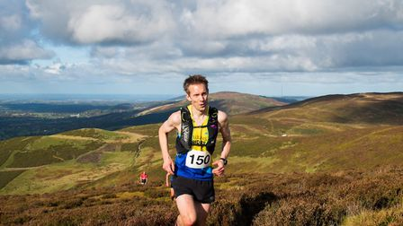Graham Smith of St Albans Striders in action at the Clwydian Hills Fell Race.