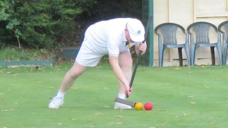 Chris Frost in action for St Albans Croquet Club.