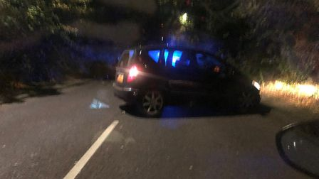 Watling Street in St Albans was blocked off by police last night (Wednesday) after a crash involving