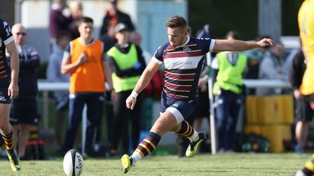 Joe Butler was a try scorer for Old Albanian away to Henley Hawks. Picture: DANNY LOO