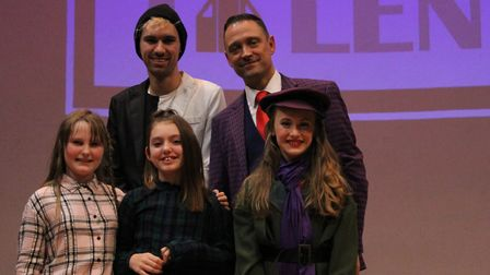 Andy McFadyen with the top three acts from Royston's Got Talent. Picture: Jenna Weeks