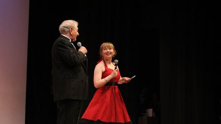 Les Ames and Millie Falconer were comperes for the evening. Picture: Jenna Weeks