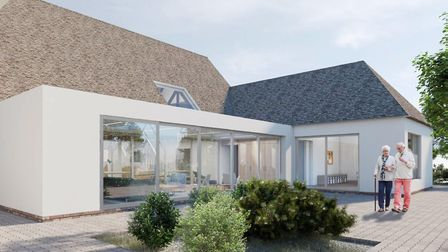 An artist's drawing of how Grove House in st Albans will look after the renovations. Picture: Rennie