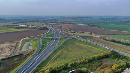 Brampton Hut junction looking west at the A14 towards Ellington. Picture: GEOFF SODEN
