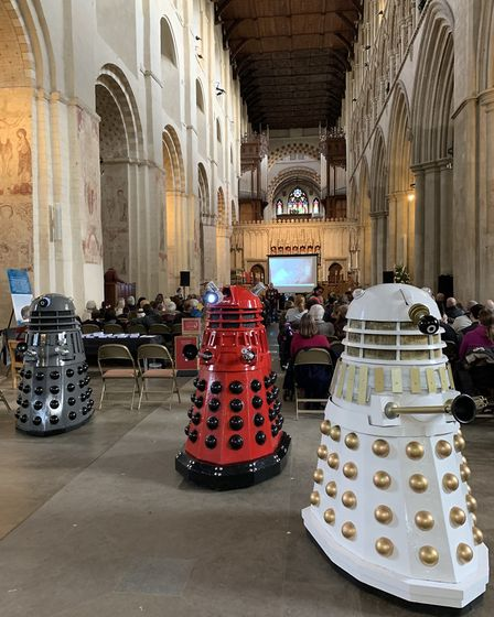 Daleks at St Albans Cathedral. Picture: Charlotte Campbell