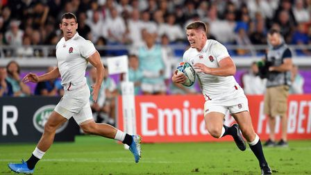 England's Owen Farrell in action during the 2019 Rugby World Cup Semi Final match against New Zealan