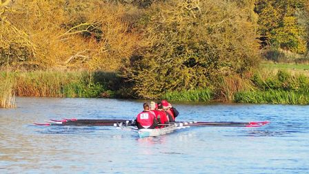The St Ives Rowing Club ladies eight in action. Picture: SUBMITTED