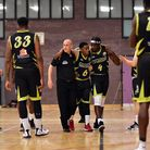 Kevin Moyo limps out of Leopards' game with Hemel Storm at Brentwood. Picture: PAUL PHILLIPS