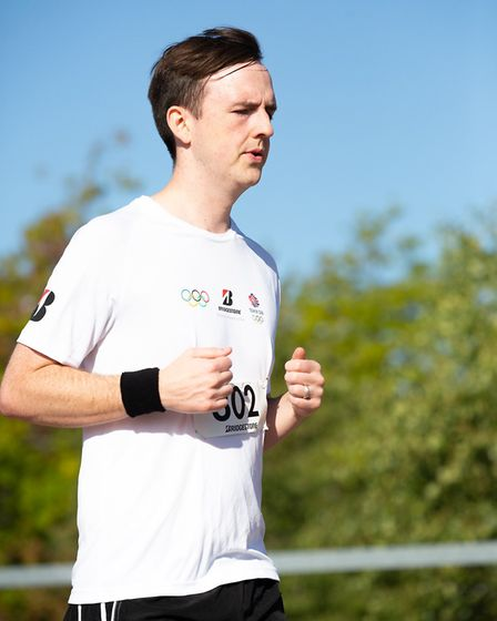 Connor Howard from St Albans took part in a 10k run as part of the Everyday Battler campaign. Pictur