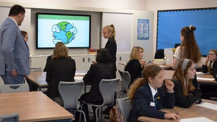 The Zero Poverty Youth Forum at Beaumont School in St Albans. Picture: Beaumont School