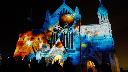 The Space Voyage at St Albans Cathedral has been well-attended by visitors. Picture: Emma Collins Ph