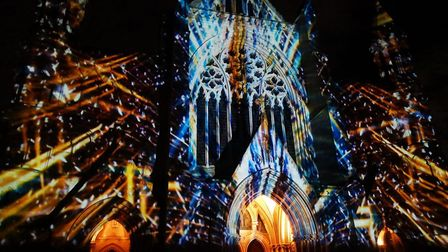 Space Voyage experience at St Albans Cathedral. Picture: Hillary Childs