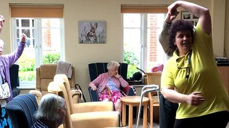 Joe Rose performing at Margaret House care home in Barley. Picture: Helen Meissner