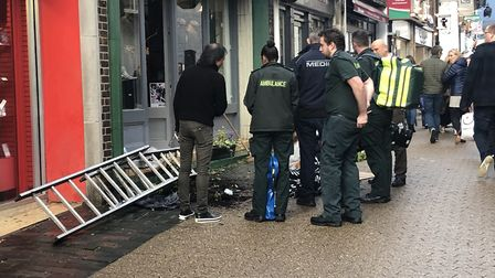 A man was injured after falling off a ladder in French Row, St Albans. Picture: Archant