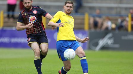 James Kaloczi played in an unfamiliar striker role as St Albans City beat Welling United. Picture: T