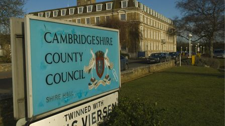 The money Cambridgeshire County Council spends on financing debt every year is rising quite steeply.