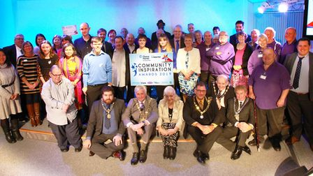 Winners and finalists from this year's Community Inspiration Awards in Huntingdon. Picture: CHORUS H