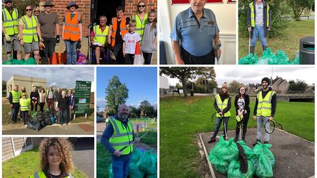 Some of our litter pick champions that have featured the newspaper.
